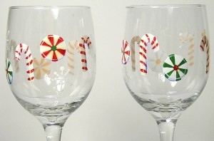 Christmas Candy Glasses