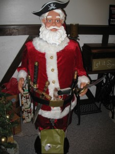 Santa decorated by son and friend
