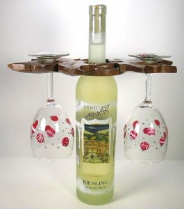 Wine Caddy and Glasses
