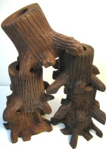 Carved Tree Stump Stands