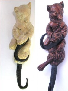 Fox Whip Holder Before and After